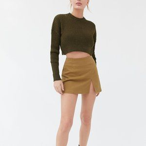 NWT Urban Outfitters Big Sur Cropped Khaki Sweater
